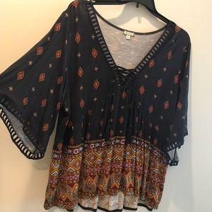 Boho patterned blouse